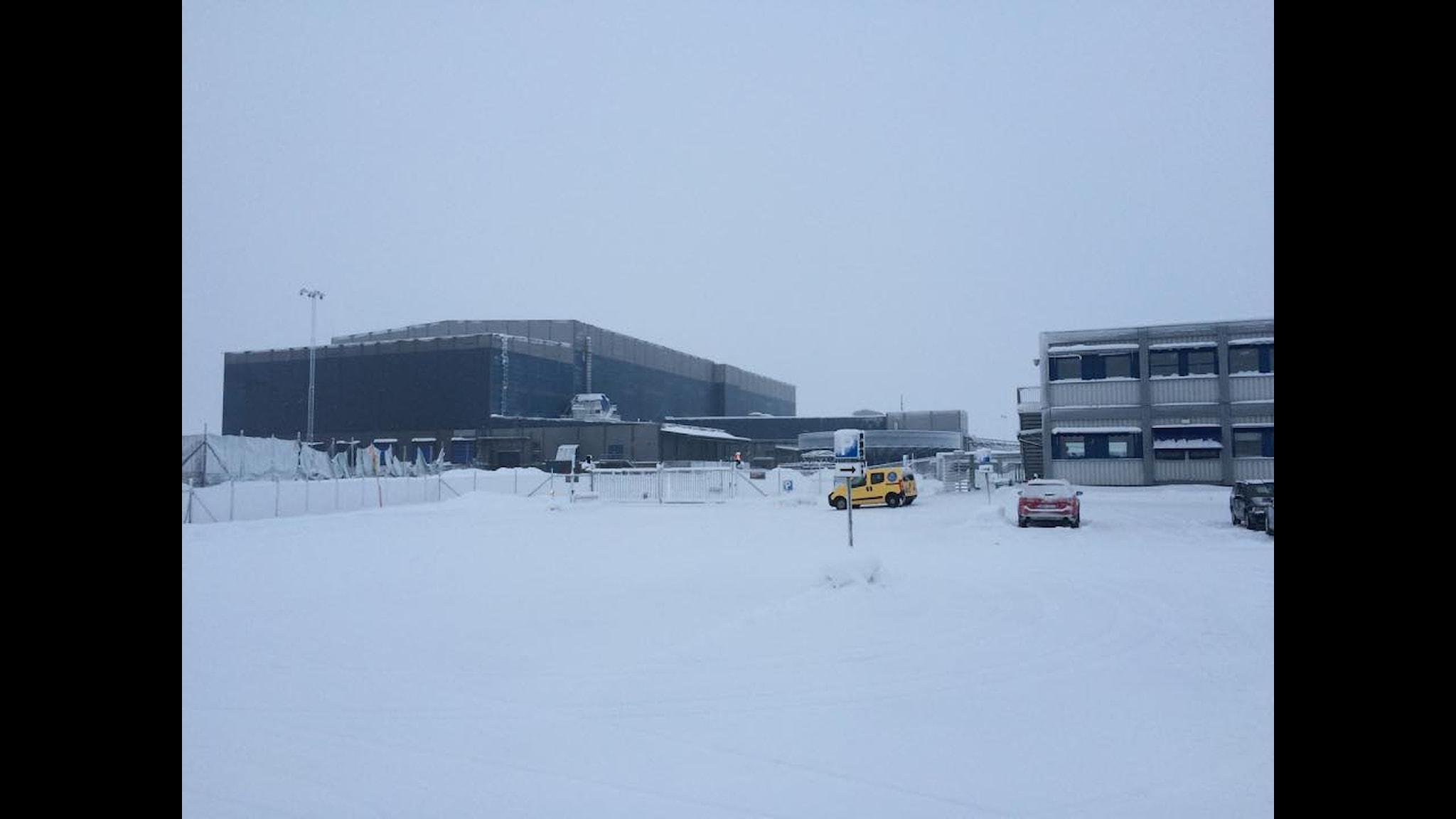 Gruvområdet i Kaunisvaara ligger tomt och öde efter Northland Resourses konkurs.