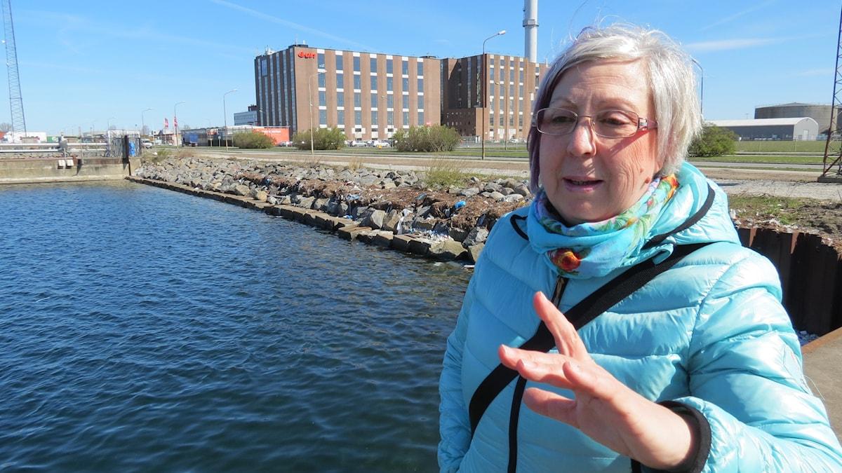 Almira Perdija i Industrihamnen i Malmö. Foto Svjetlana Pastuhovic