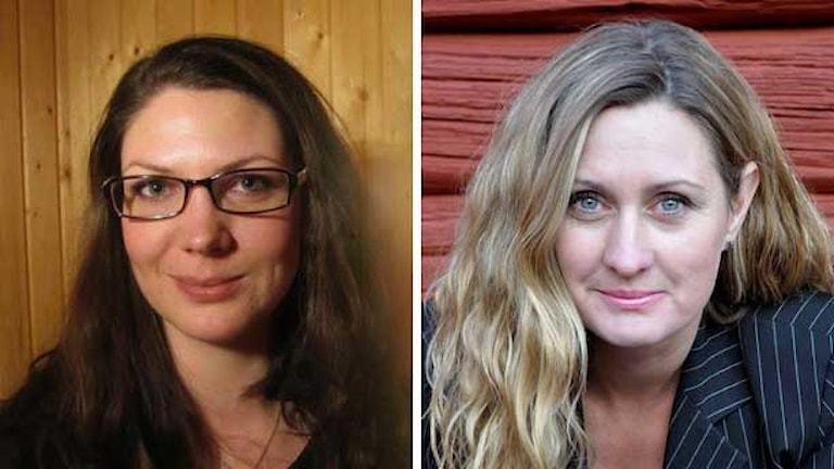 Reportrarna Matilda Eriksson-Rehnberg & Veronika Karlsson. Foto: Helena Broström/Tobias Gruhs/Sveriges Radio.