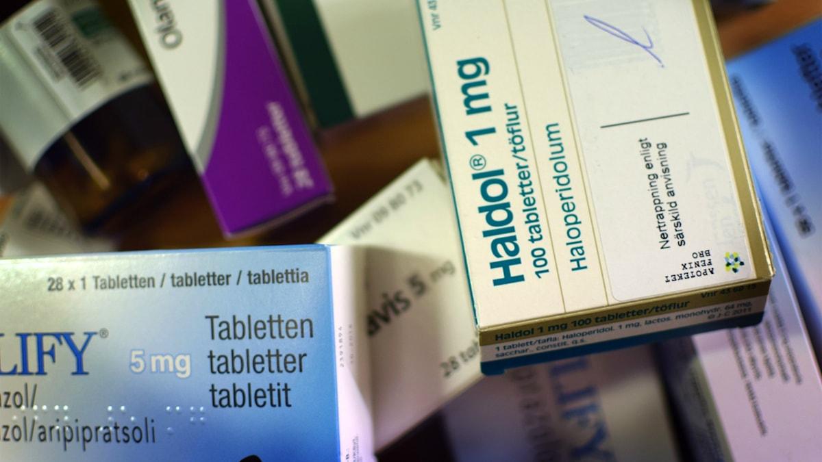 Tunga mediciner som används på Bup