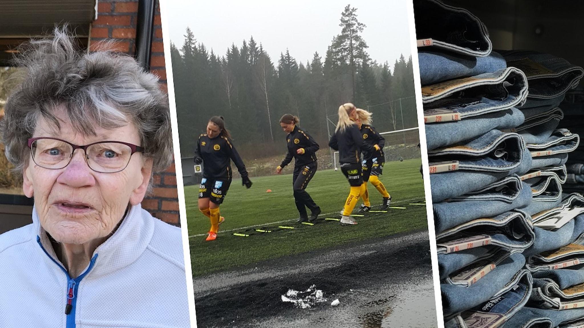 Bild på Birgit Eriksson i Boxholm, spelare i Elfsborg och jeans.