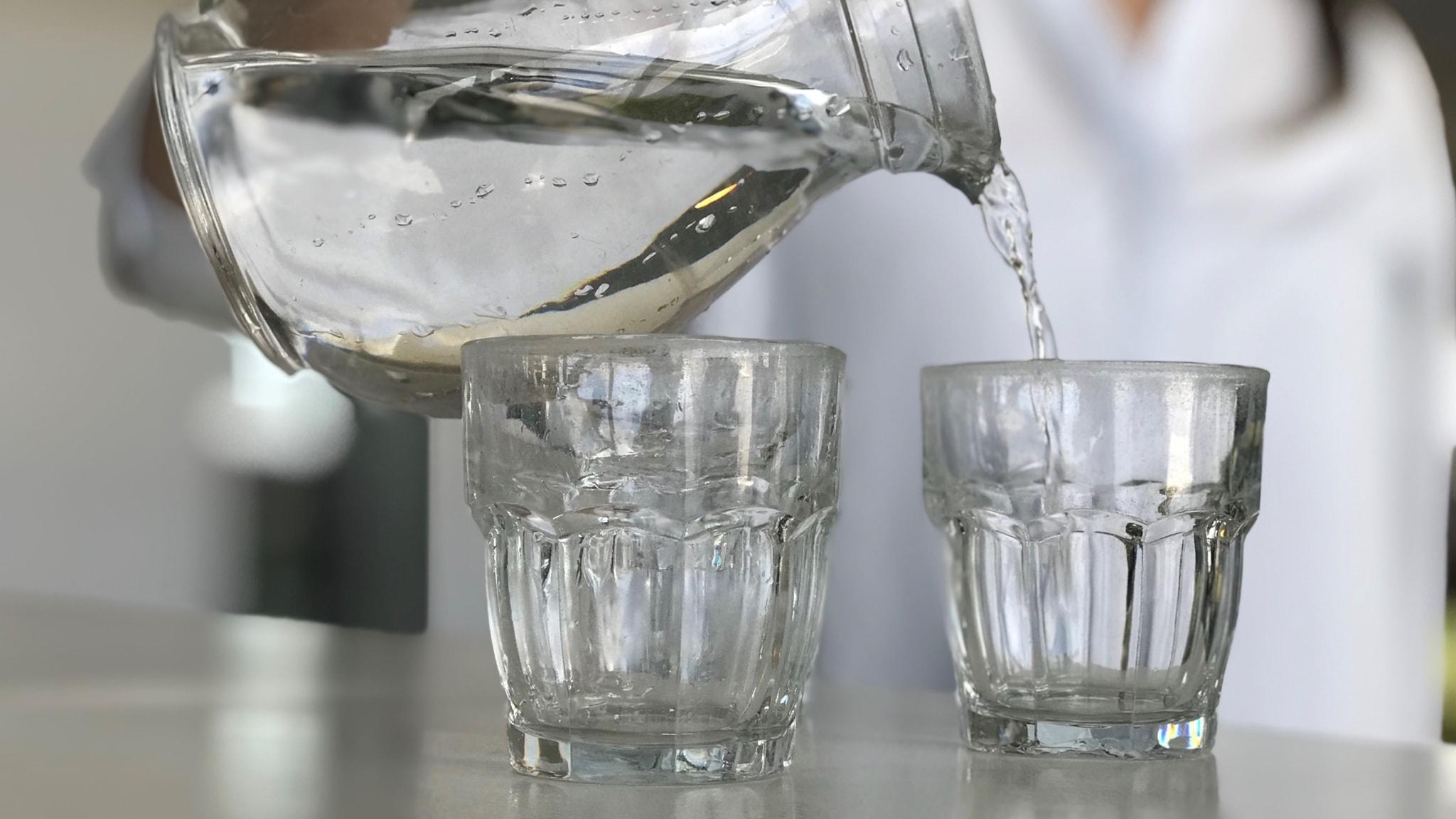 Vattenkaraff vattenglas