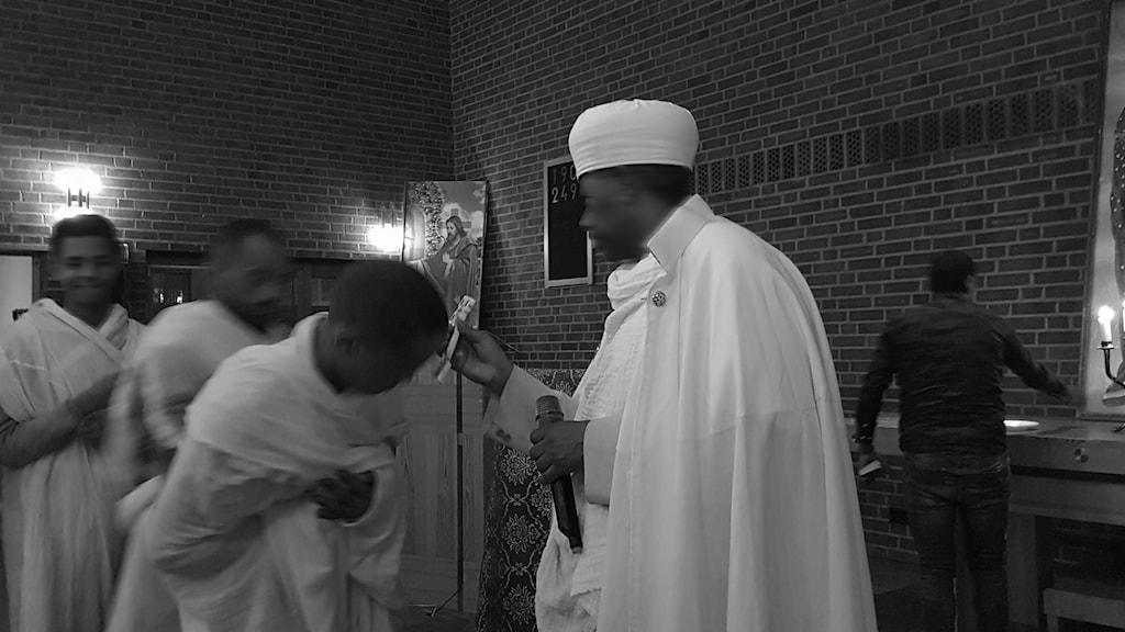 Den eritreanska ortodoxa kyrkan i Sverige är splittrad.