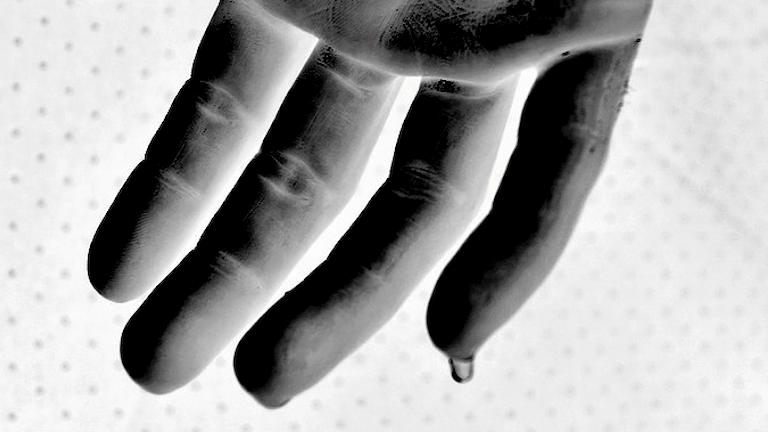 Svettig hand