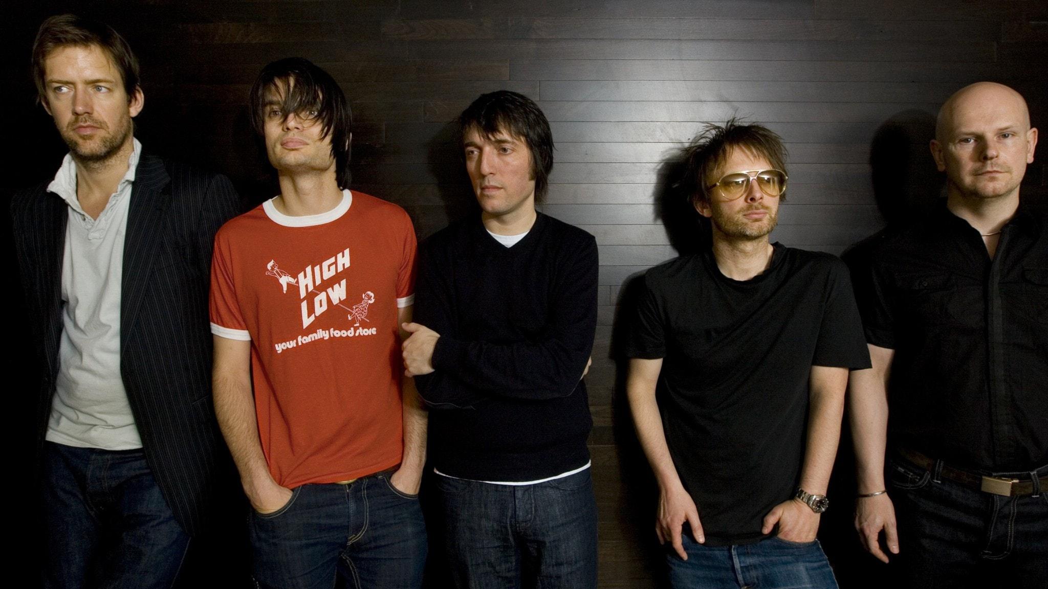 Bandmedlemmarna i Radiohead, från vänster, Ed O´Brien, Jonny Greenwood, Colin Greenwood, Thom Yorke och Phil Selwayan.