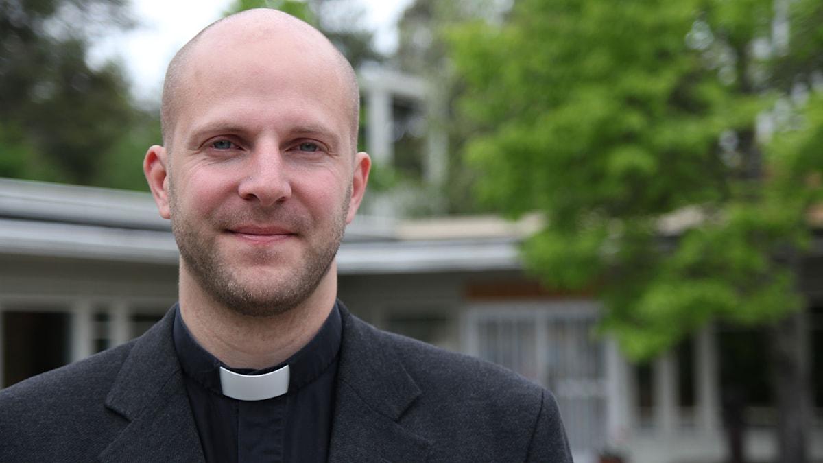 Gustav Ericsson, meditationsledare och präst vid sjukhuskyrkan i Umeå