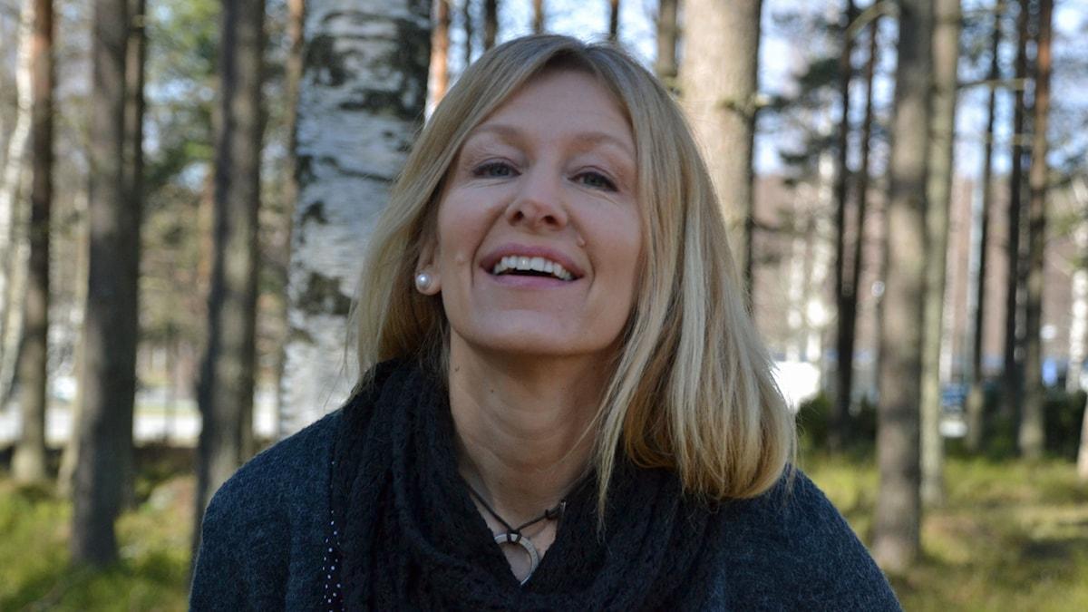 Liza L Lundkvist.  Foto: Helena Ramfjord/Sveriges Radio.