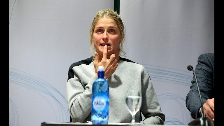 Presskonferens med Therese Johaug om dopningen