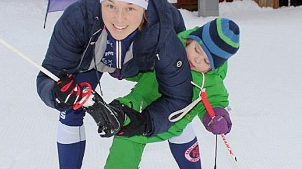 Anna Petersén med dottern Ellen.