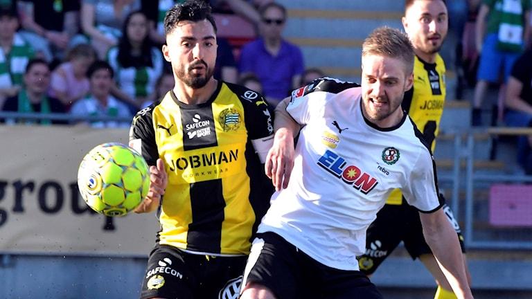 Johan Mårtensson fick rött kort efter den omdiskuterade matchen mot Hammarby.