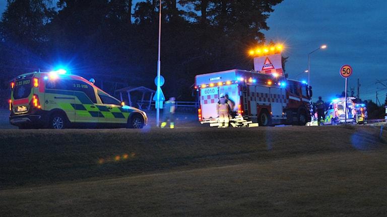 På motorcyklar kolliderade i Åsbro.