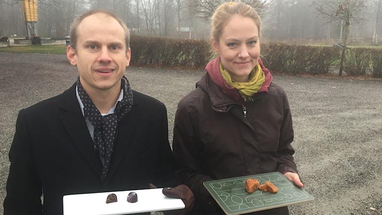 Nils Österström och Pia Qvarnström är båda med i onsdagens tävling Framtidens mat.