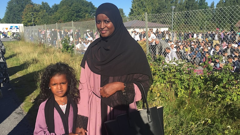 Samira Osman och hennes mamma Habiba Abdirahman hade klätt sig i matchande kläder.