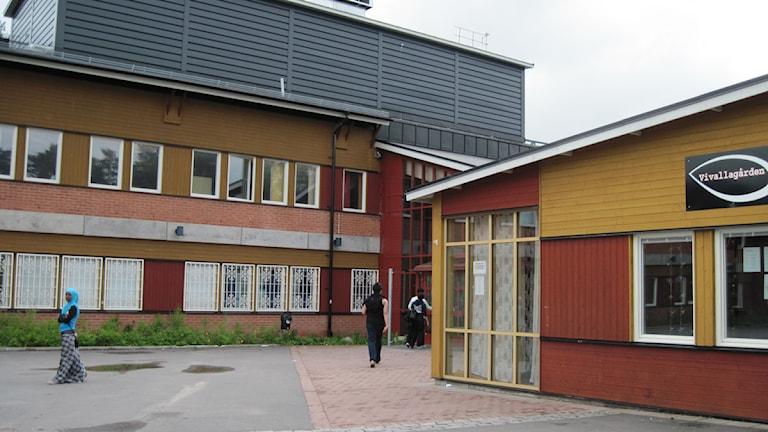 Elever klassas baserat på deras kunskaper på Vivallaskolan i Örebro. Foto: Jaber Fawaz/SR Örebro.