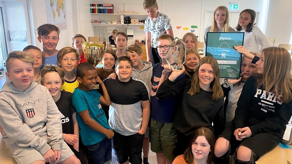 Klass 5A på Lillåns skola.