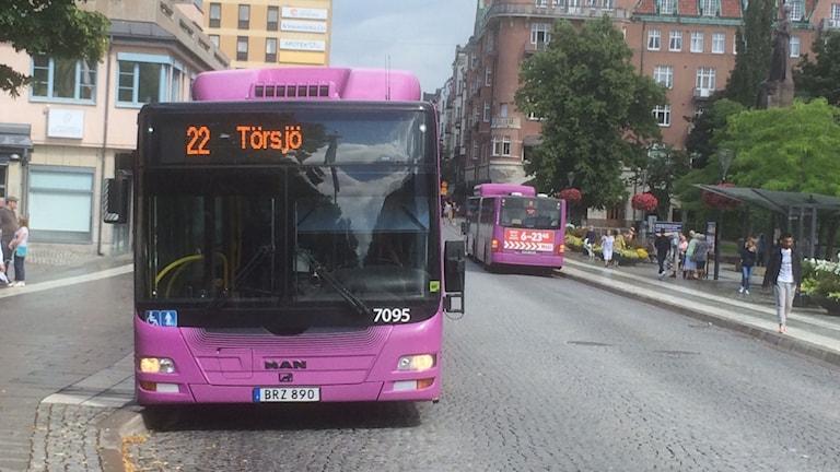 Stadsbussar i Örebro. Foto: Marie Hansson/Sveriges Radio.