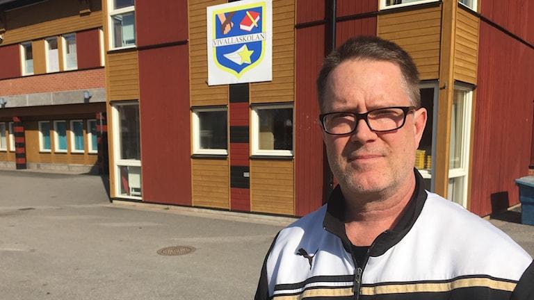 David Crawford idrottslärare på Vivallaskolan.