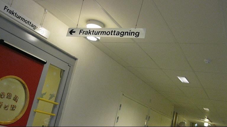 Halkan kan leda till Frakturmottagningen. Foto: Ida Leveby Andersson/Sveriges Radio Örebro.