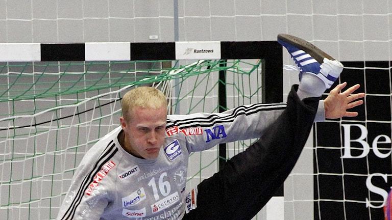Sebastien Ehnevid i Lindesbergs mål stoppade allt första kvarten. Arkivbild:Valdemar Andersson/SR Örebro
