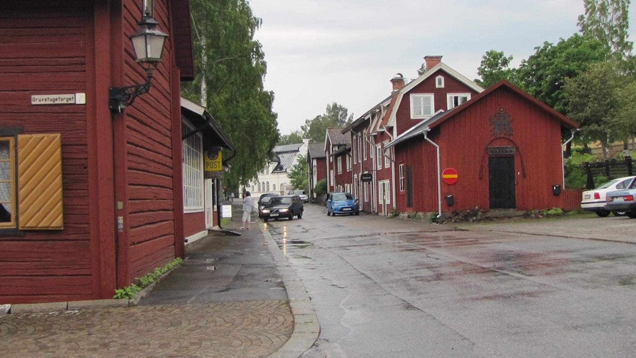 Kopparberg i vad som i alla fall än så länge heter Ljusnarsbergs kommun. Foto: Marie Hansson/Sveriges Radio Örebro.
