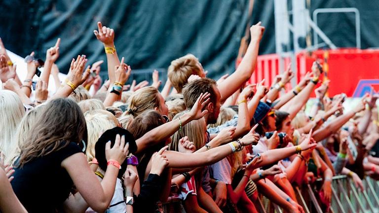 Festivalpublik. Foto: MIkael Laine/Putte i parken