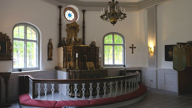 Predikstol, från norra Tyskland, Segersjö Gårdskyrka.
