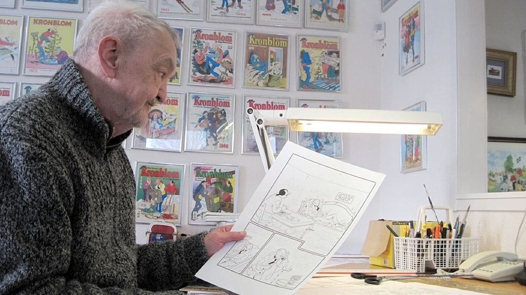 Kronbloms tecknare Gunnar Persson