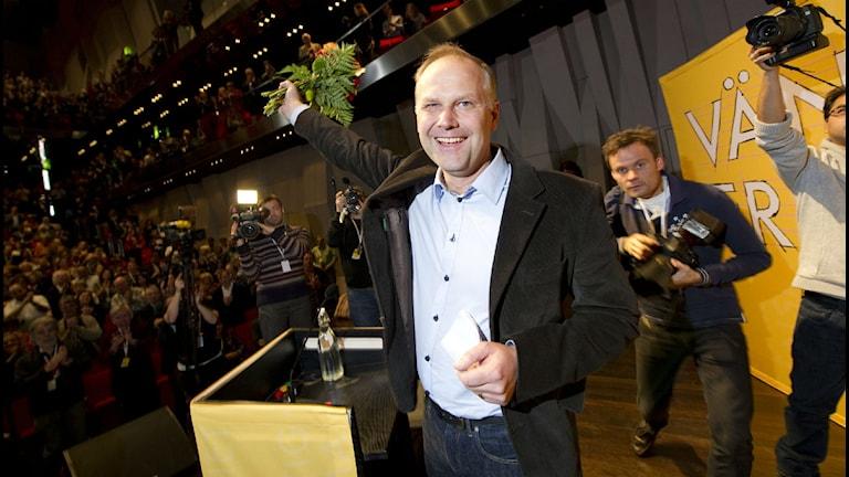 Jonas Sjötedt Vänsterpartiet. Foto: Fredrik Sandberg/Scanpix.