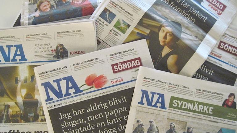 Nerikes Allehanda. Foto: Malin Holmberg/Sveriges Radio Örebro.