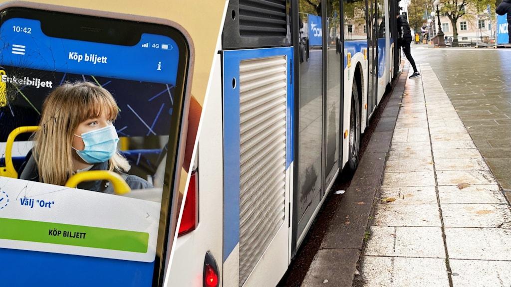 Länstrafikens app och länstrafiken buss