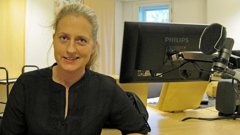 Jessica Ekerbring (S) ordförande i Skolnämnd Nordväst. Foto: Jaber Fawaz/SR Örebro