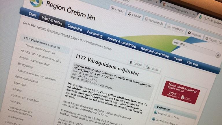 Många vill ha kontakt via 1177 Vårdguiden. Foto: Marie Hansson/Sveriges Radio.