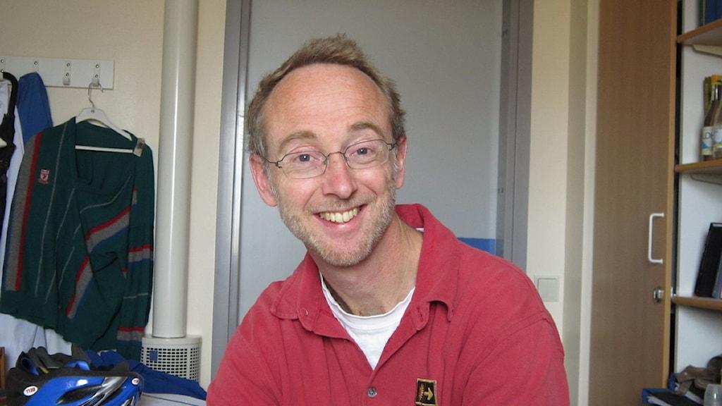 Jonas Ludvigsson är barnläkare på Universitetssjukhuset i Örebro. Foto: Marie Hansson/Sveriges Radio Örebro