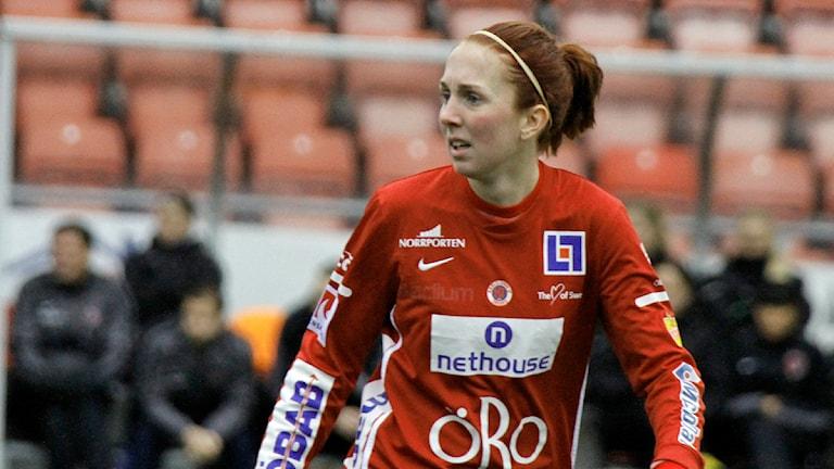 Marina Pettersson Engström kvitterade till 1-1 i 28:e minuten mot Göteborg. Arkivbild:Valdemar Andersson/SR Örebro