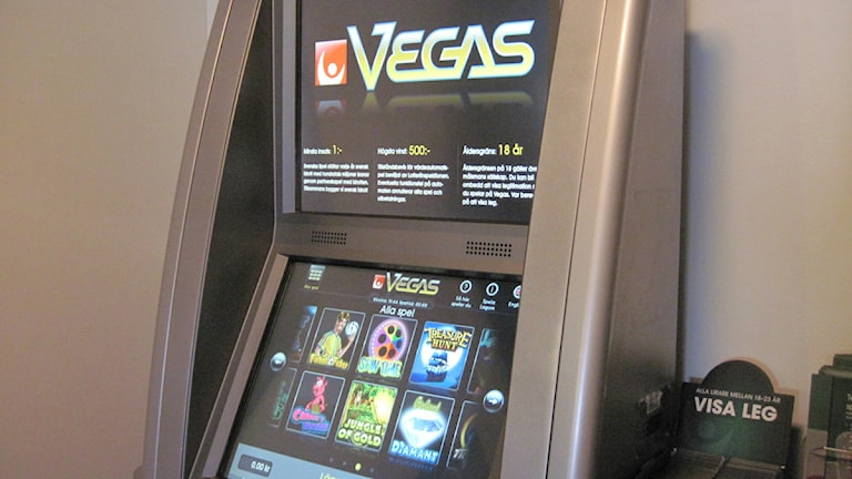 Vegas spelmaskin. Foto:Jaber Fawaz/Sveriges Radio Örebro