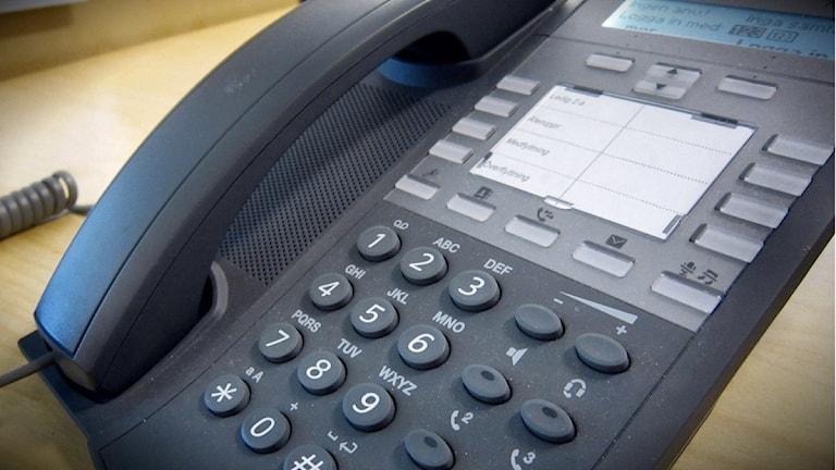 Telefon. Foto: Mikaela Pallin/Sveriges Radio