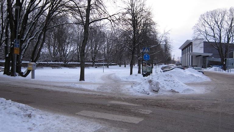 Fabriksgatan förbi Virginska gymnaiset kommer få en utfart mot motorvägen. Foto Marie Hansson SR Örebro.