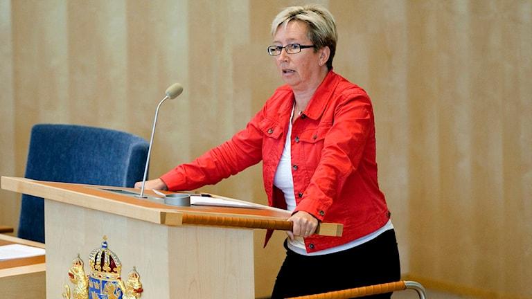 Eva-Lena Jansson riksdagskvinna för Socialdemokraterna och från Örebro. Foto: Christine Olsson Scanpix.