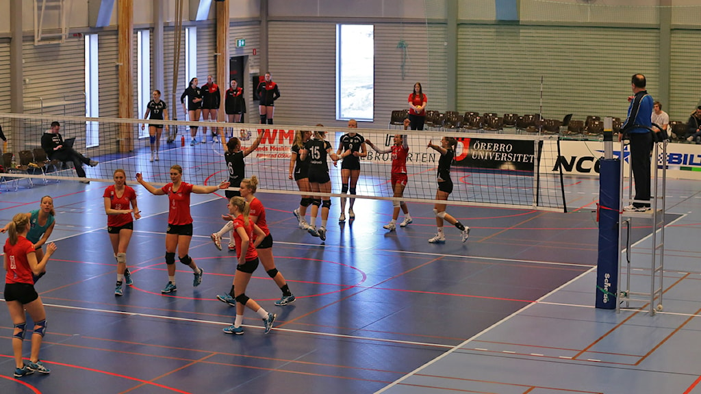 Örebro volley spelade mot Falköping i nyinvigda Tegelbruket. Foto:Valdemar Andersson/SR Örebro.