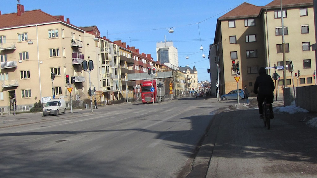 Trädgårdsgatan i centrala Örebro. Foto: Sammi Iessa/Sveriges Radio.