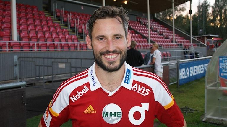 Marcus de Bruin, en av många matchhjältar mot ÖIS. Foto: Lasse Hellstrandh/Sveriges Radio