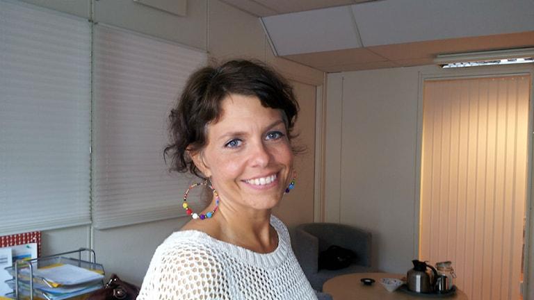 Anna Jakobsson enhetschef för ensamkommande flyktingbarn i Örebro kommun. Foto: Karwan Tahir/P4 Örebro