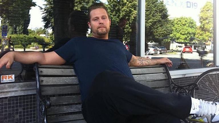 Peter Holmqvist på Fenix 019. Foto: Anna Nyström/Sveriges Radio Örebro