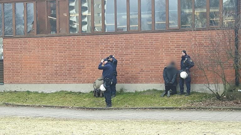 Gripna vid Alléskolan i Hallsberg.