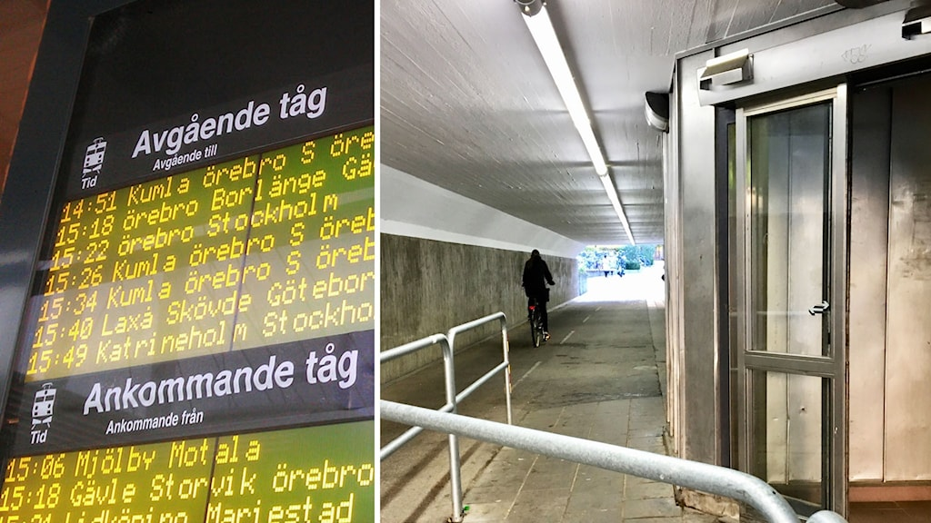 Bild på tågstation