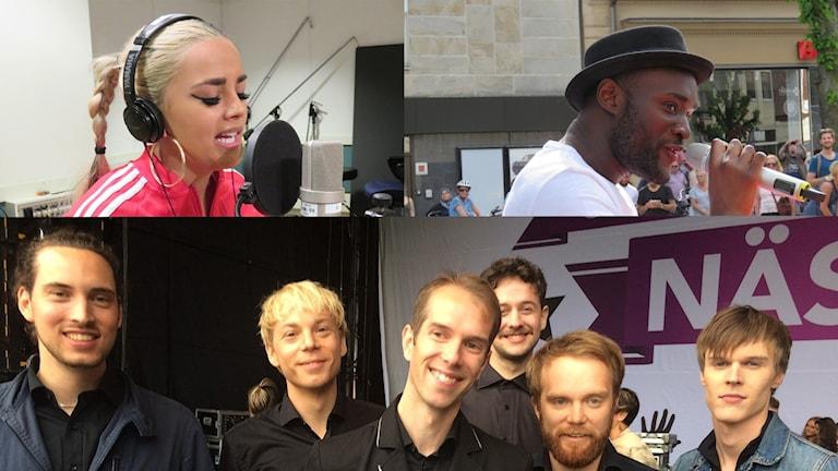 Jasmine Kara, Boris René och Les Gordons ska alla tävla i Melodifestivalen.
