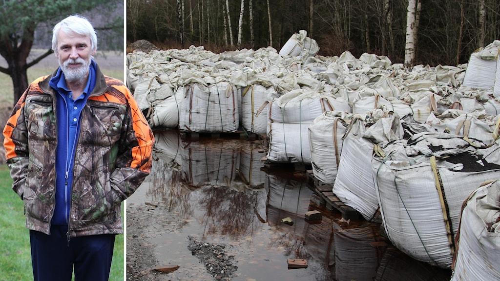 Hans Olsson bor i Härminge och anser att batteriavfallet ska bort.
