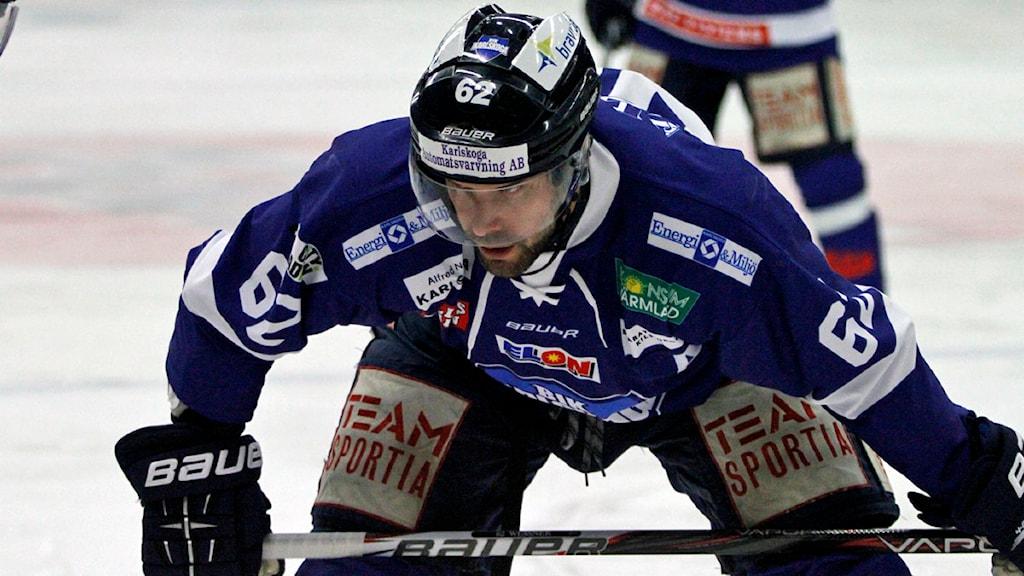Daniel Wessner BIK Karlskoga. Foto:Valdemar Andersson/SR Örebro