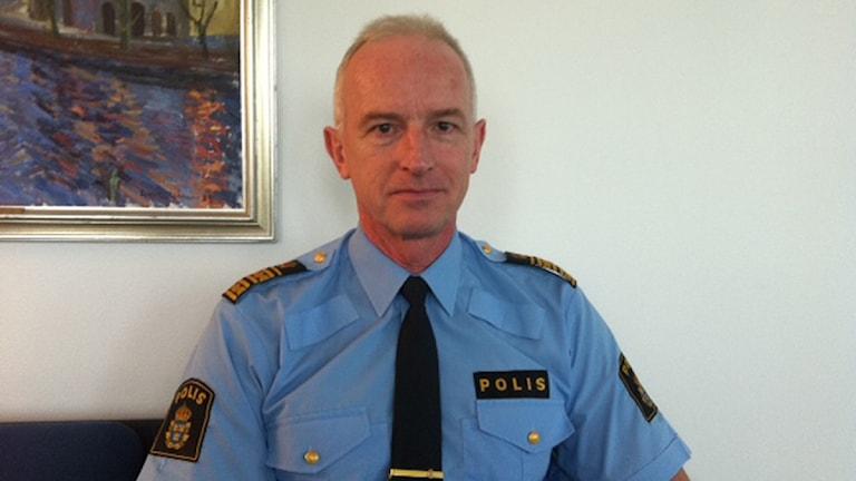 Dan Persson, chef för polisen i Region Bergslagen. Foto: Anna Nyström/Sveriges Radio Örebro
