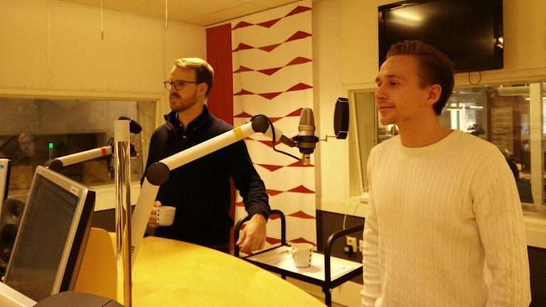 Jesper Kornblad och Hampus Petersson som pluggat i Sydkorea.
